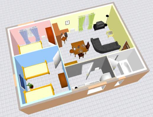 Architecture et cadre de vie for Exemple maison sweet home 3d